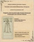 Najava predavanja �Nadgrobna plo�a bosanske kraljice Katarine Kotromani�: novoprona�eni crte� iz Britanske biblioteke�