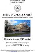Filozofski fakultet Univerziteta u Sarajevu - Dan otvorenih vrata